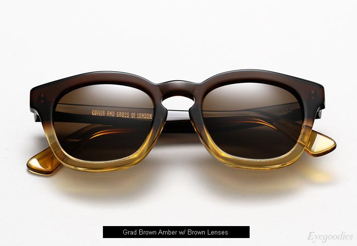 Cutler and Gross 1119 sunglasses - Grad Brown Amber