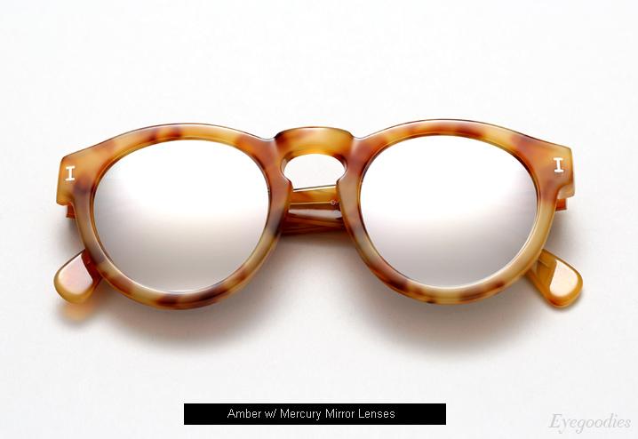 Illesteva Leonard sunglasses - Amber w/ Mercury Mirror