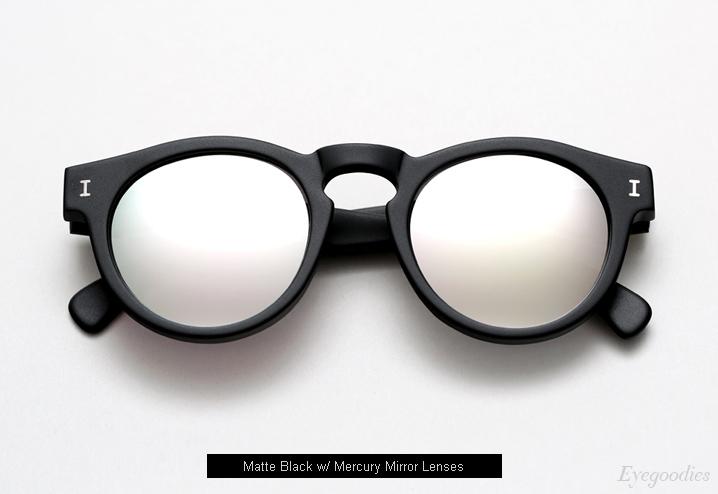 Illesteva Leonard sunglasses - Matte Black w/ Mercury Mirror