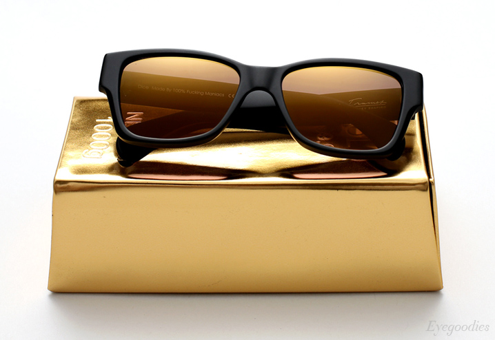 Vintage Frames Company Dice - Matte Black and Gold sunglasses