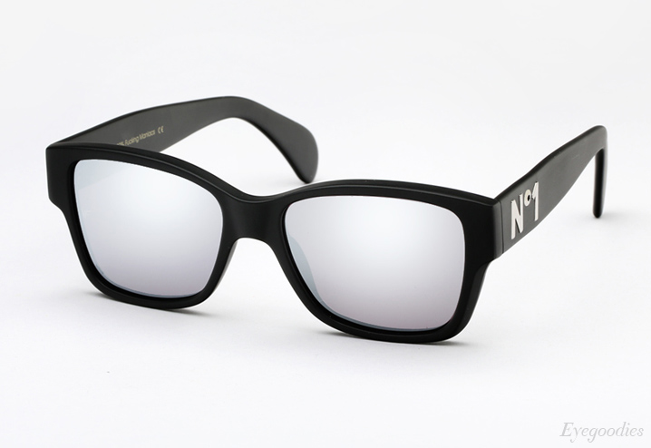 Vintage Frames Company Dice - Matte Black and Silver sunglasses