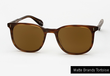 Garrett Leight Bentley sunglasses - Matte Brandy Tortoise