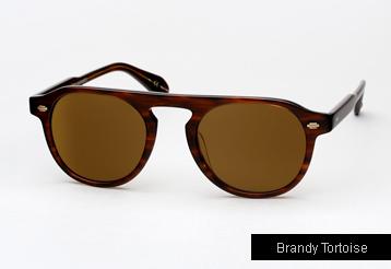 Garrett Leight Harding sunglasses - Brandy Tortoise