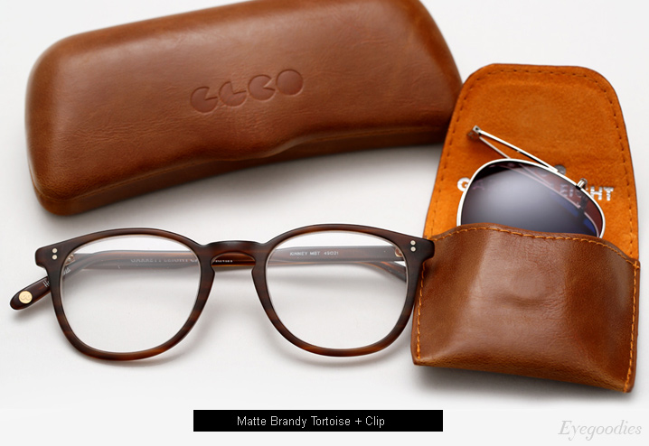 Garrett Leight Kinney Eyeglasses w/ Clip - Matte Brandy Tortoise