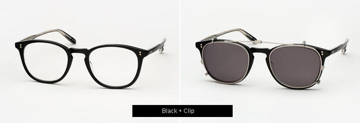 Garrett Leight Kinney Eyeglasses w/ Clip - Black