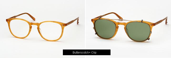 Garrett Leight Kinney Eyeglasses w/ Clip - Butterscotch