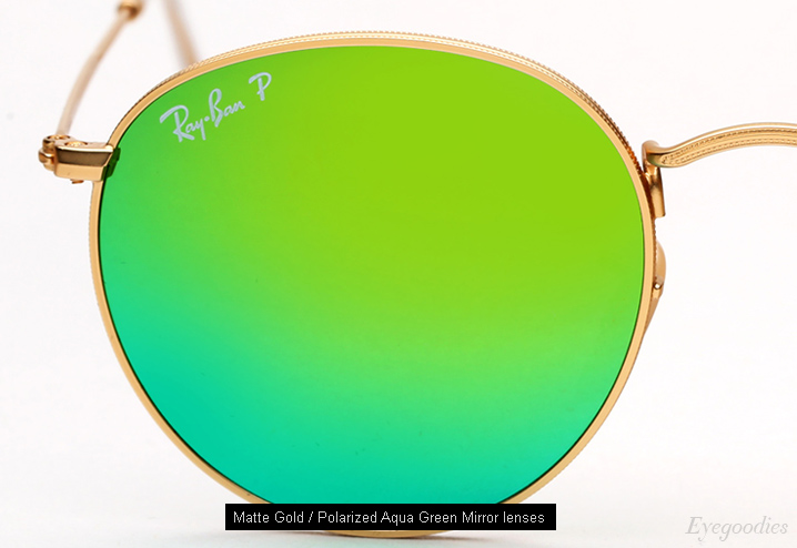 ray ban round sunglasses polarized  ray ban round metal 3447 sunglasses polarized aqua green mirror