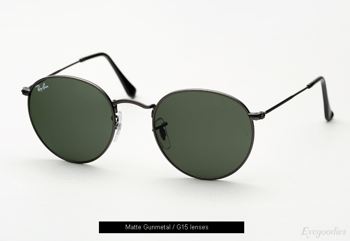 Ray Ban Round Metal 3447 Sunglasses - Matte Gunmetal