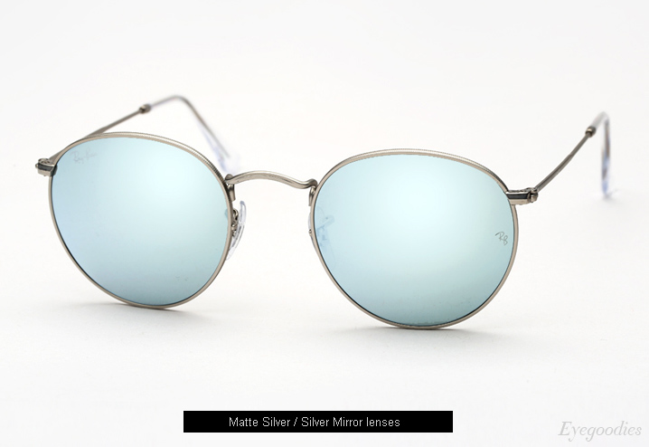 ray ban silver metal polarized aviator sunglasses  ray ban round metal 3447 sunglasses silver mirror