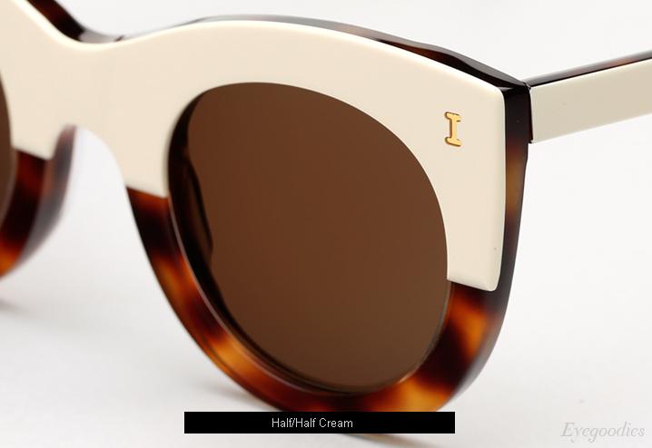 Illesteva Boca Sunglasses - Half/Half Cream