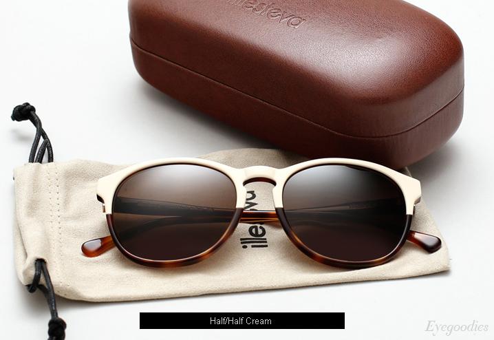 Illesteva Hudson sunglasses - Half/Half Cream