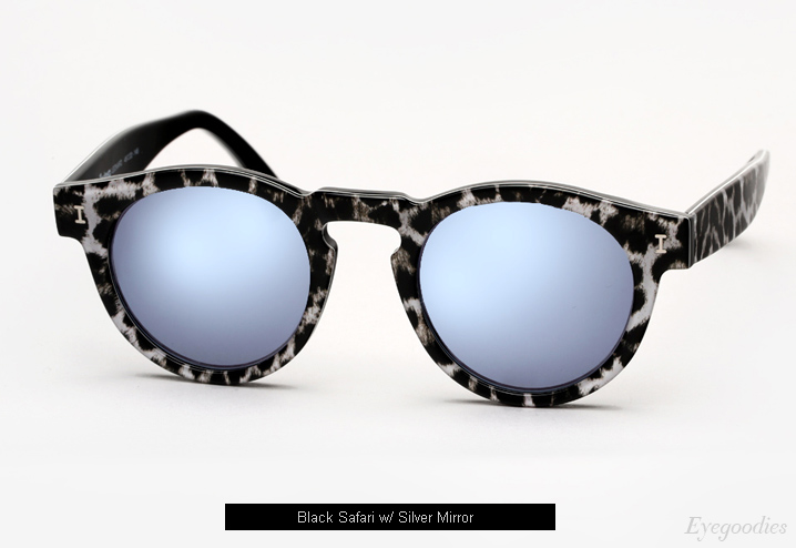 Illesteva Leonard sunglasses - Black Safari w/ Silver Mirror