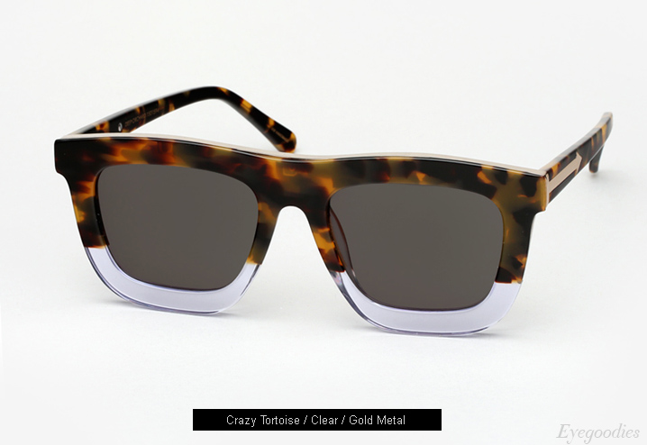 karen Walker Deep Orchard Sunglasses - Crazy Tortoise / Clear / Gold Metal