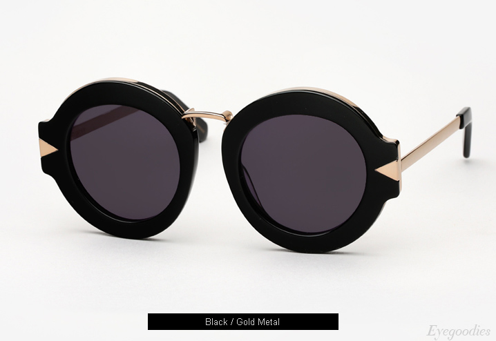 Karen Walker Maze Sunglasses - Black / Gold Metal