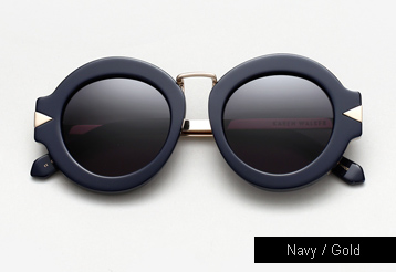 Karen Walker Maze Sunglasses - Navy / Gold Metal