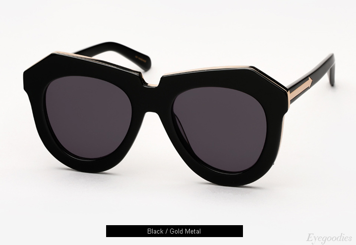 Karen Walker One Meadow sunglasses - Black / Gold Metal