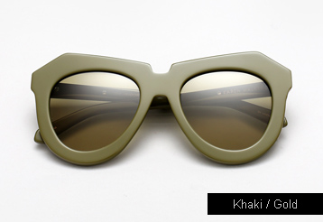 Karen Walker One Meadow sunglasses - Khaki / Gold Metal
