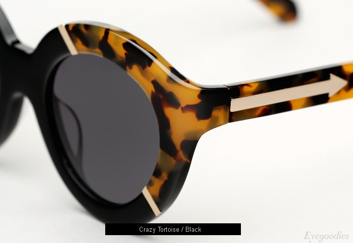Karen Walker Flowerpatch sunglasses - Crazy Tortoise / Black