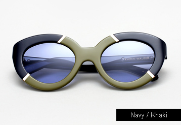 Karen Walker Flowerpatch sunglasses - Navy / Khaki
