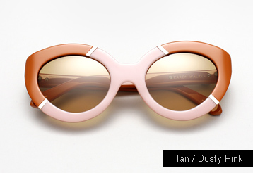 Karen Walker Flowerpatch sunglasses - Dusty Pink / Tan