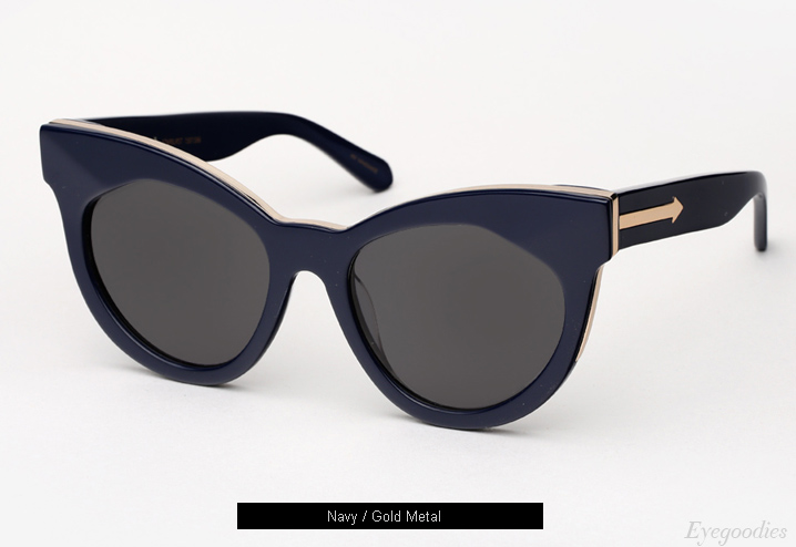 Karen Walker Starburst sunglasses - Navy / Gold Metal