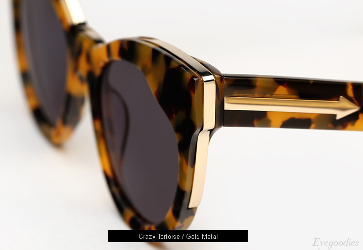 Karen Walker Starburst sunglasses - Crazy Tortoise / Gold Metal