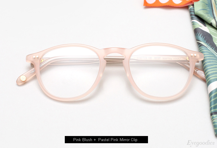 Garrett Leight Hampton + Clip (Pink Blush)