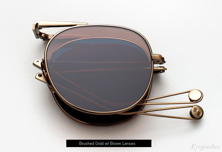 Garrett Leight Van Buren Sunglasses - Brushed Gold
