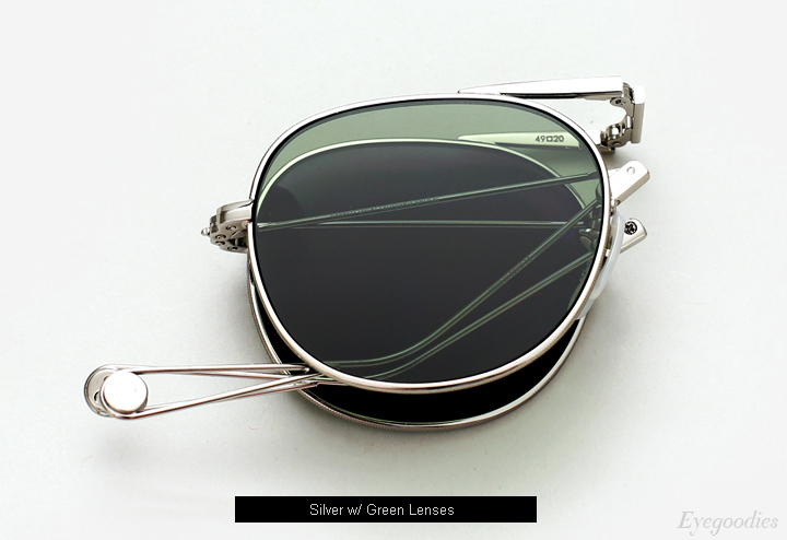 Garrett Leight Van Buren Sunglasses - Silver