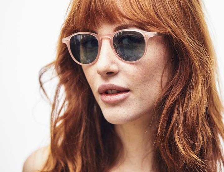 Garrett Leight Hampton sunglasses - Pink Blush