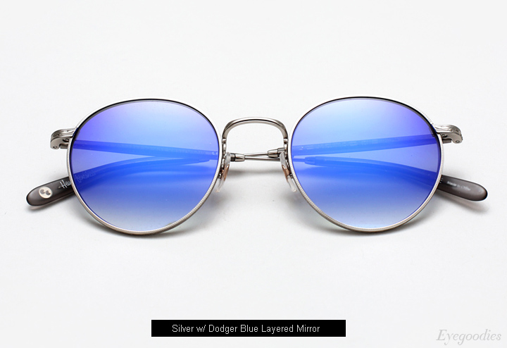 Garrett Leight Wilson M Sunglasses - Dodger Layered Mirror