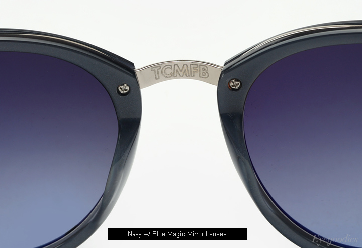 Garrett Leight x Mark Mcnairy Pinehurst sunglasses - Navy