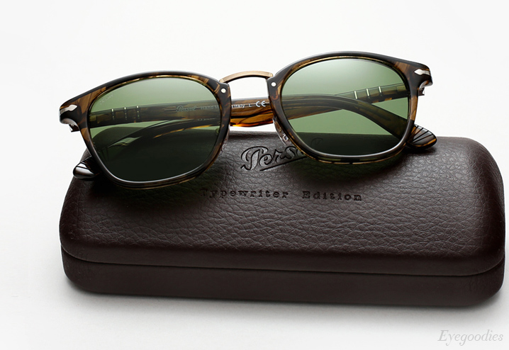 Persol 3110 Typewriter Edition sunglasses - Striped Brown