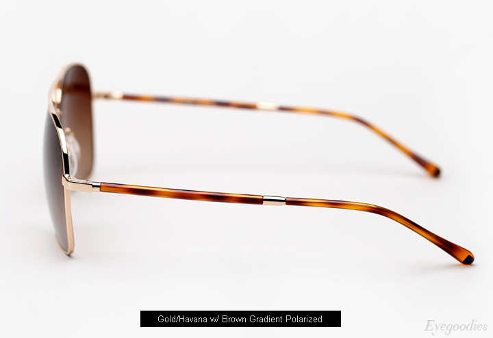 Oliver Peoples West Vanalden Sunglasses - Gold/Havana w/ Brown Gradient Lenses