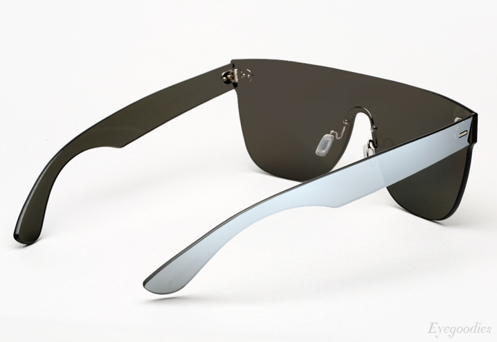 Super Flat Top Large Tuttolente Silver Sunglasses