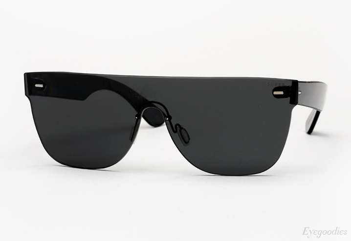 Super Flat Top Tuttolente Black Sunglasses
