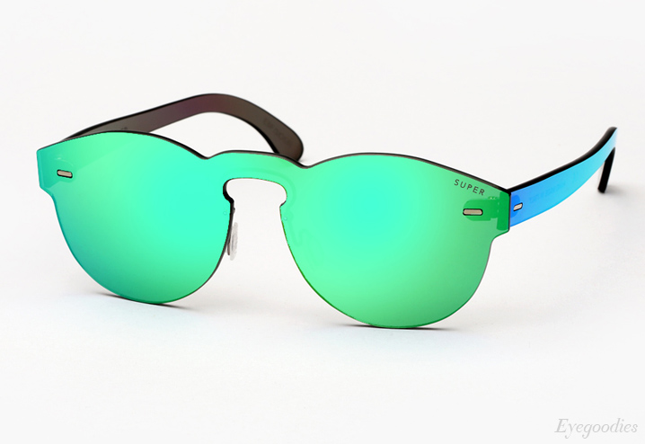 Super Paloma Large Tuttolente Green Sunglasses