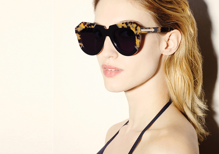 495d28ba93 Karen Walker One Splash sunglasses - Crazy Tortoise   Black