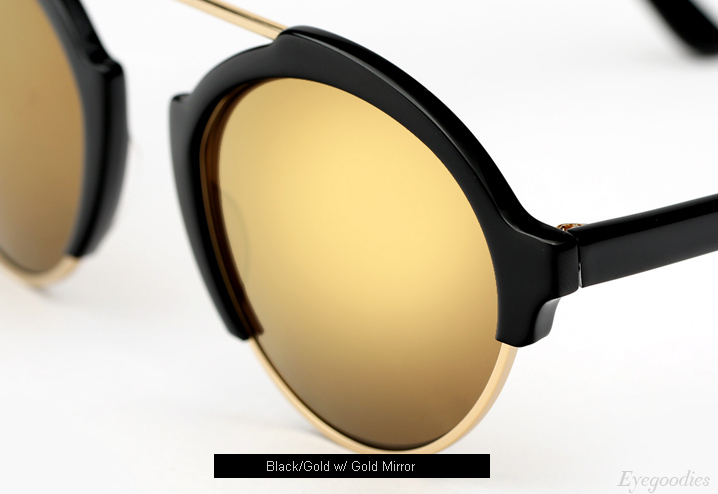 Illesteva Milan 3 sunglasses - Black with Gold Mirror