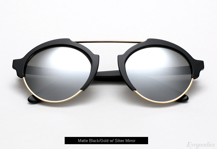 Illesteva Milan 3 sunglasses - Matte Black with Silver Mirror