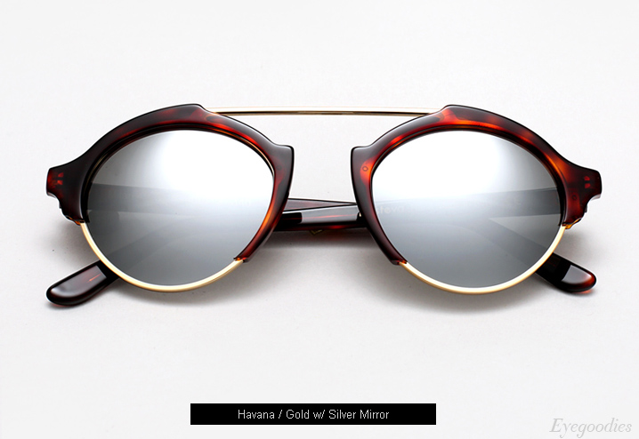 Illesteva Milan 4 sunglasses - Havana w/ Silver Mirror