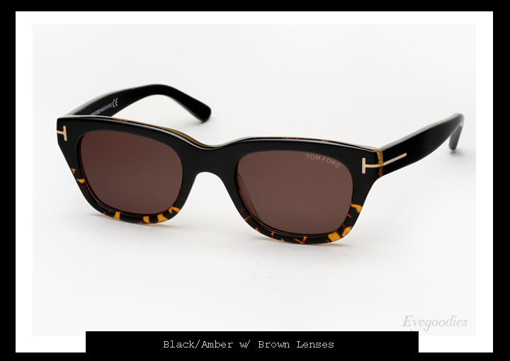 Tom Ford Snowdon - Black/Amber - James Bond Spectre sunglasses