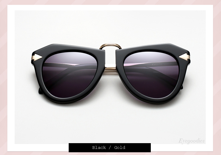 Karen Walker One Orbit sunglasses - Black