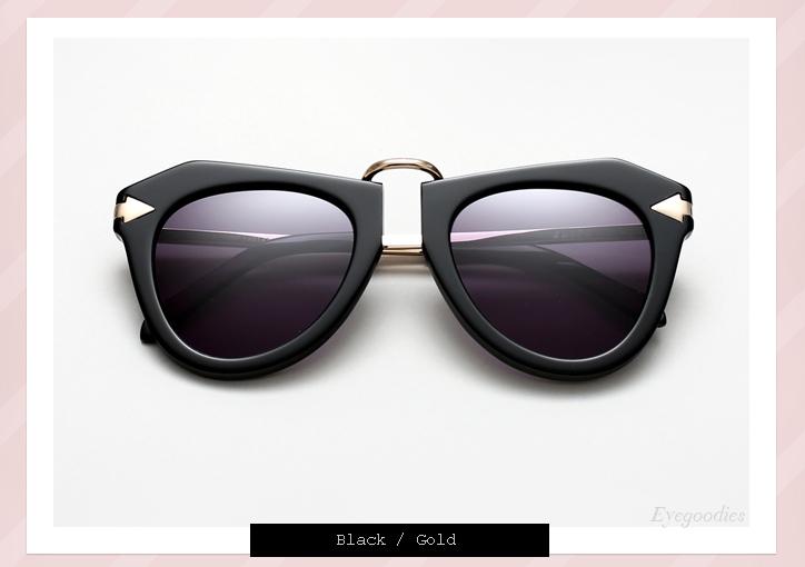 Karen Walker One Orbit sunglasses - Black