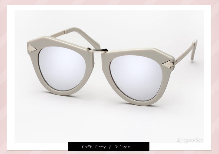 Karen Walker One Orbit sunglasses - soft grey