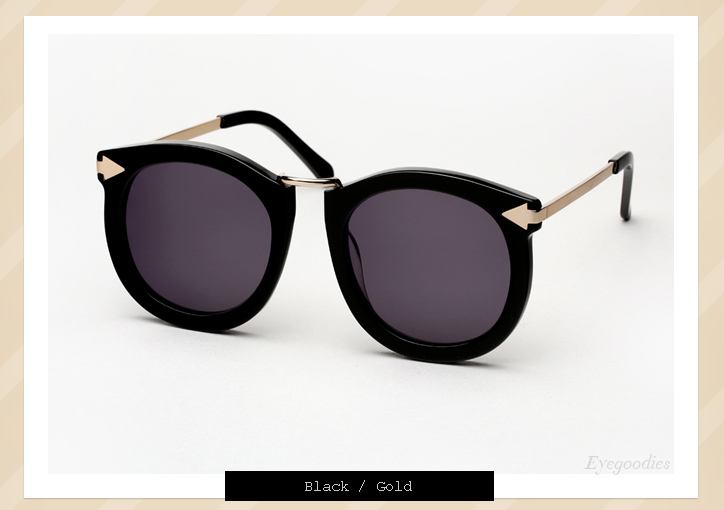 bf19571247d ... Karen Walker Super Lunar sunglasses - Black ...