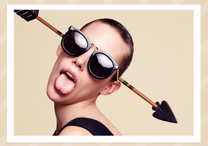 Karen Walker Super Lunar sunglasses - Black