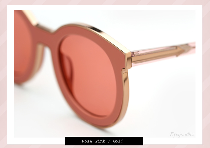 Karen Walker Super Spaceship sunglasses - Rose Pink
