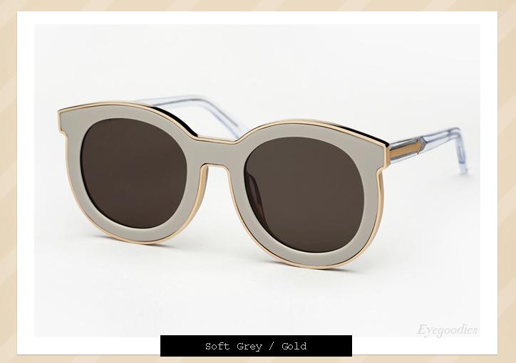 Karen Walker Super Spaceship sunglasses - Soft Grey