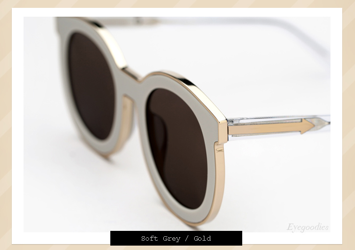 Karen Walker Super Spaceship sunglasses - Soft Grey